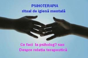 relatia psihoterapeutica